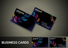 Abstract artistic dotted business card. Vector illustration Royalty Free Stock Images