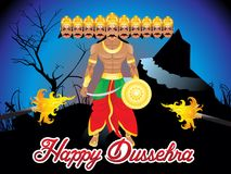 Abstract artistic dussehra background. Vector illustration stock illustration
