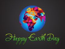 Abstract artistic earth day background. Vector illustration Vector Illustration