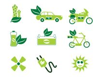 Abstract artistic eco icons. Vector illustration Royalty Free Stock Photography