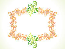 Abstract artistic floral border. Vector illustration Royalty Free Stock Image