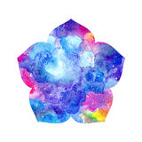 Abstract artistic floral silhouette watercolor colorful blots. Abstract artistic flower silhouette watercolor colorful blots vector illustration
