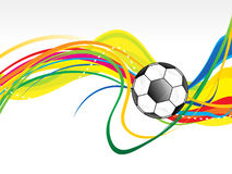 Abstract artistic football wave background. Vector illustration Royalty Free Stock Images