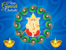 Abstract artistic ganesh chaturthi background. Vector illustration royalty free illustration