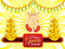 Abstract artistic ganesh chaturthi background. Vector illustration vector illustration