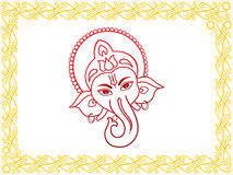 Abstract artistic ganesha background. Vector illustration Stock Images