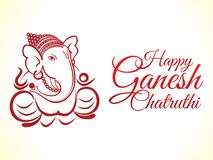 Abstract artistic ganesha chaturhi background. Vector illustration stock illustration