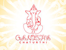 Abstract artistic ganesha chaturthi background. Vector illustration royalty free illustration