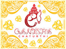 Abstract artistic ganesha chaturthi background Stock Photography