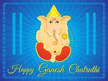 Abstract artistic ganesha chaturthi background. Vector illustration vector illustration