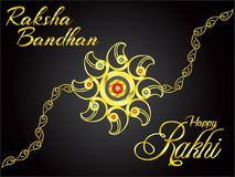 Abstract artistic golden rakhi background. Vector illustration royalty free illustration