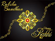 Abstract artistic golden rakhi background. Vector illustration stock illustration