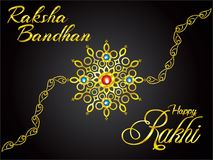 Abstract artistic golden raksha bandhan background. Vector illustration vector illustration