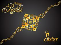 Abstract artistic golden raksha bandhan rakhi. Vector illustration vector illustration