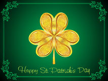 Abstract artistic golden st patrick clover background Stock Images