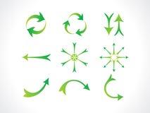 Abstract artistic green arrows icon. Vector illustration vector illustration