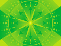 Abstract artistic green background. Vector illustration Royalty Free Illustration