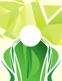 Abstract artistic green background. Vector illustration vector illustration