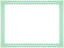 Abstract artistic green border. Vector illustration Royalty Free Stock Photos