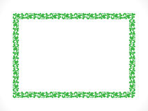 Abstract artistic green border Royalty Free Stock Images