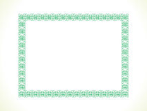 Abstract artistic green border Stock Photo