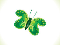 Abstract artistic green butterfly. Vector illustration Stock Image
