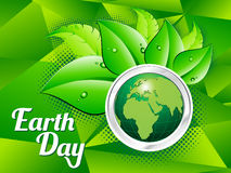 Abstract artistic green earth day. Vector illustration Royalty Free Stock Image