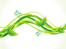 Abstract artistic green eco wave. Vector illustration vector illustration