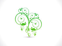Abstract artistic green floral. Vector illustration Royalty Free Stock Images