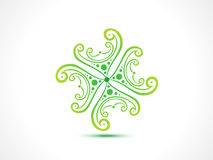 Abstract artistic green floral Stock Images
