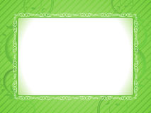Abstract artistic green frame. Vector illustration Royalty Free Stock Photography
