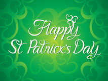 Abstract artistic green st patricks day background. Vector illustration Stock Image