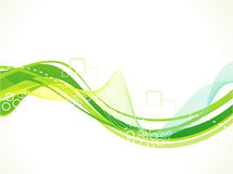 Abstract artistic green wave background Stock Photos