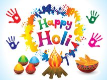 Abstract artistic happy holi background. Vector illustration Royalty Free Stock Images