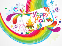 Abstract artistic happy holi background Stock Images