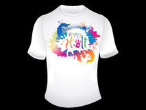 Abstract artistic happy holi tshirt. Vector illustration Royalty Free Stock Photos