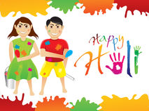 Abstract artistic holi background Stock Image
