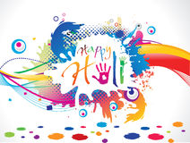 Abstract artistic holi background. Vector illustration Royalty Free Stock Photo