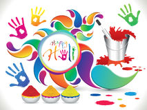 Abstract artistic holi elements Stock Photo