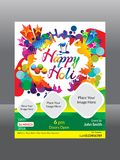 Abstract artistic holi flyer. Vector illustration Royalty Free Stock Photos