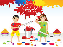 Abstract artistic holi splash background. Vector illustration Stock Photography
