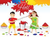 Abstract artistic holi splash background Stock Photography
