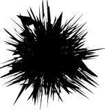Abstract artistic illustration. Black and white geometric - text Royalty Free Stock Photography
