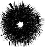 Abstract artistic illustration. Black and white geometric - text Stock Image