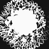 Abstract artistic illustration. Black and white geometric - text Royalty Free Stock Photos