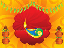 Abstract artistic indian celebration background. Vector illustration Stock Image