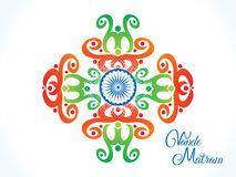 Abstract artistic indian flag floral. Vector illustration Royalty Free Stock Image