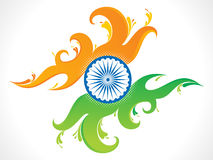 Abstract artistic indian flag wave background. Vector illustration Royalty Free Stock Photo