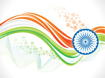Abstract artistic indian flag wave background Royalty Free Stock Photos