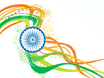 Abstract artistic indian flag wave Stock Image